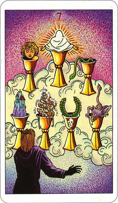 Tarotkaart 63 Bekers 7 Zeven
