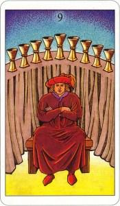 Tarotkaart 65 Bekers 9 Negen