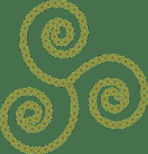 celtic triskell groen aarde Tarot Pentagrammen letarot.nl