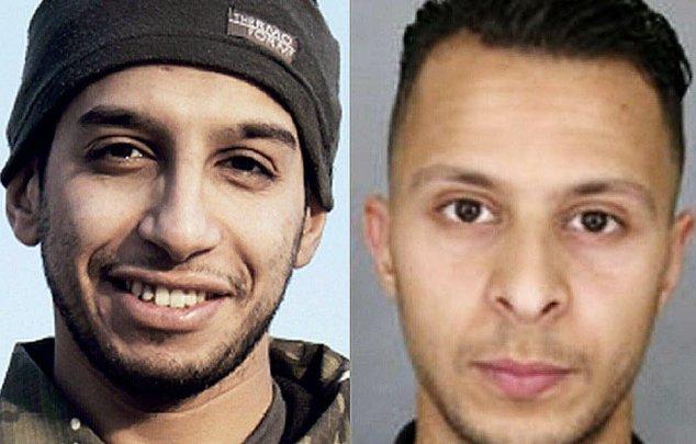 Abdelhamid Abbaoud (à gauche), tué le 18 novembre lors de l'assaut du raid à...