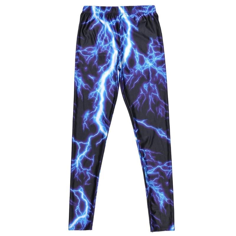Blue Lightning Women S Leggings Yoga Workout Capri Pants