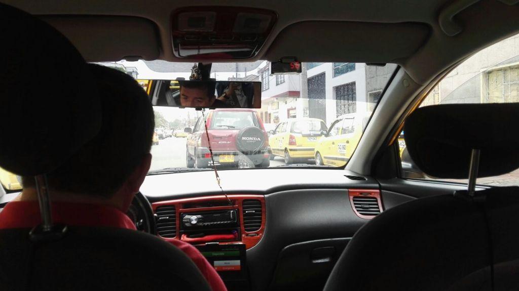 Jízda taxíkem v Kolumbijském stylu