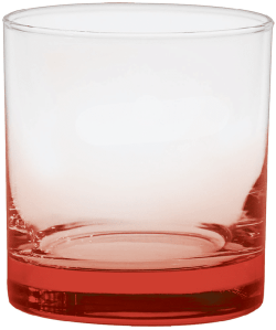 11 oz. Executive Old Fashion - Custom Glow® Bottom Spray - Red