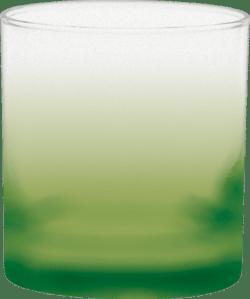 11 oz. Executive Old Fashion - Custom Frosty Glow® Spray - Lime Green