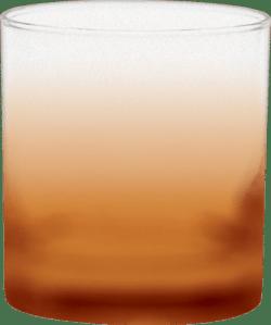 11 oz. Executive Old Fashion - Custom Frosty Glow® Spray - Orange