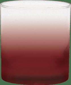 11 oz. Executive Old Fashion - Custom Frosty Glow® Spray Maroon