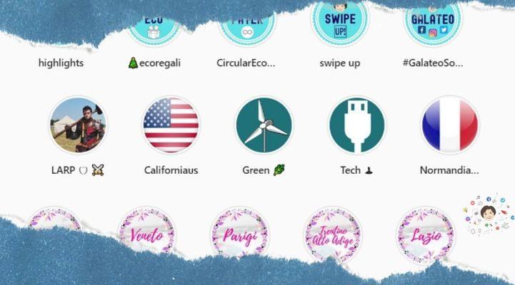 grafiche instagram come personalizzare le icone delle copertine delle storie con immagini e testo