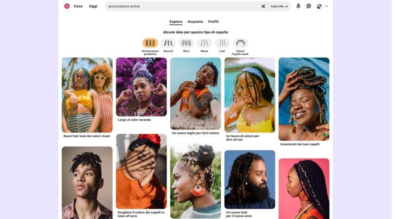 Pinterest: con la tecnologia computer vision risultati di bellezza più inclusivi nelle ricerche sulle acconciature