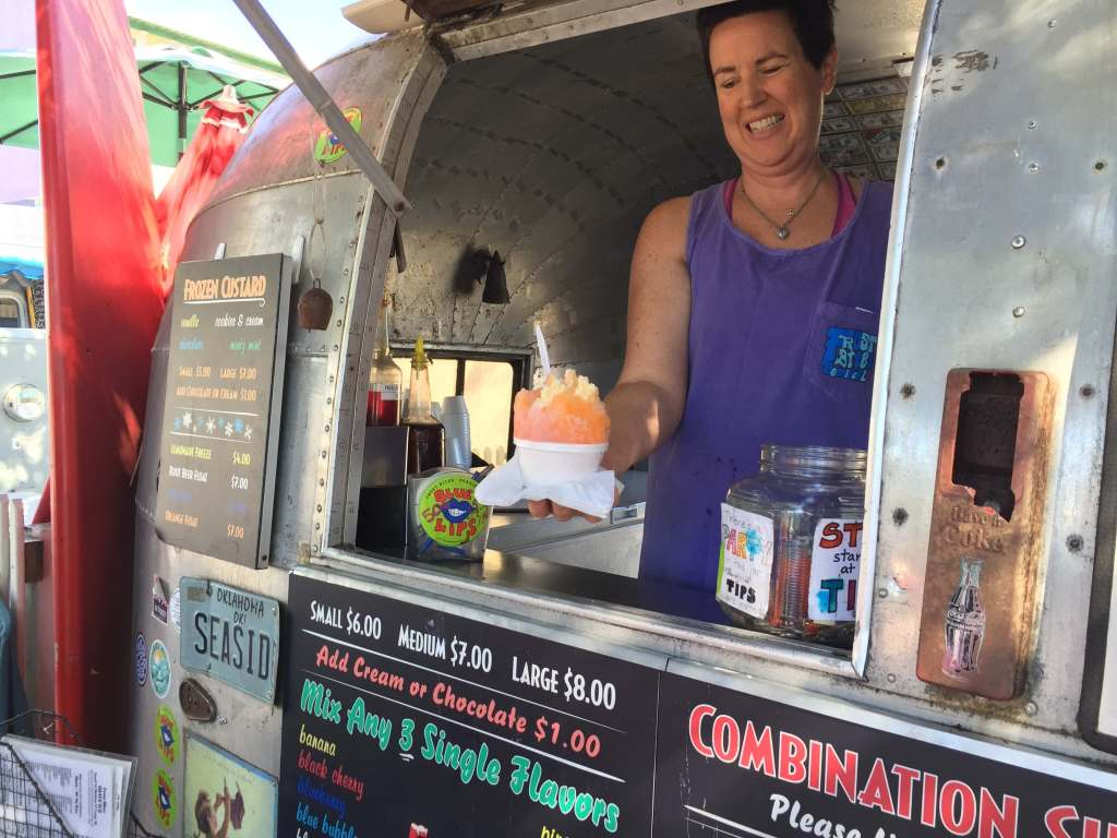 Shave Ice food truck in Seaside, FL in Airstream Row