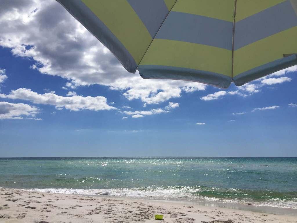 Inlet beach, FL umbrella on beach