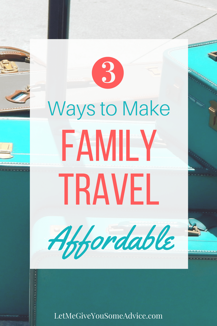 Vacations can be expensive but you can make family travel affordable with these 3 tips. Help you stretch your budget as you plan your family's next trip
