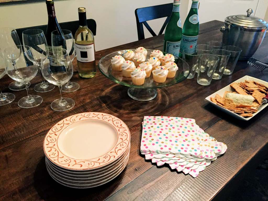 Table set for book club from Let Me Give You Some Advice
