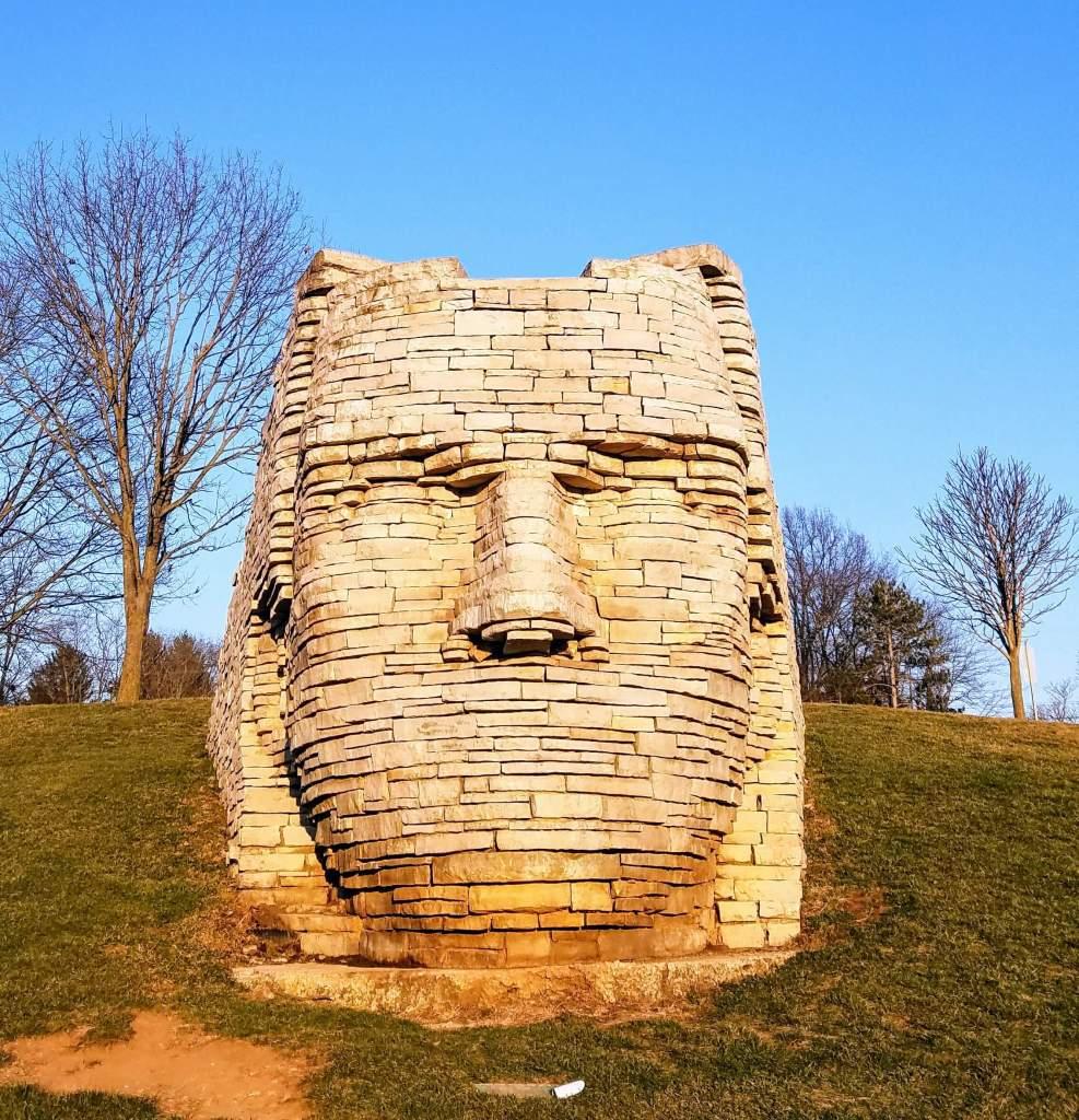 Scioto Park sculpture in Dublin Oh