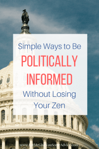 How To Stay Politically Informed Without Feeling Overwhelmed