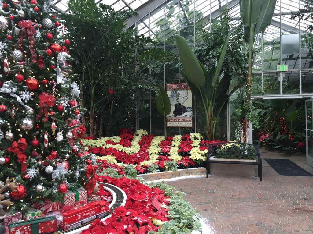 Indianapolis Christmas Events With Kids - Garfield Park Conservatory Crossing