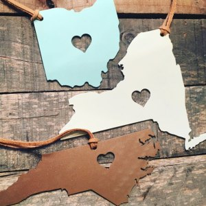 Home State Gifts - Metal Ornament from Etsy Seller JourneyIron