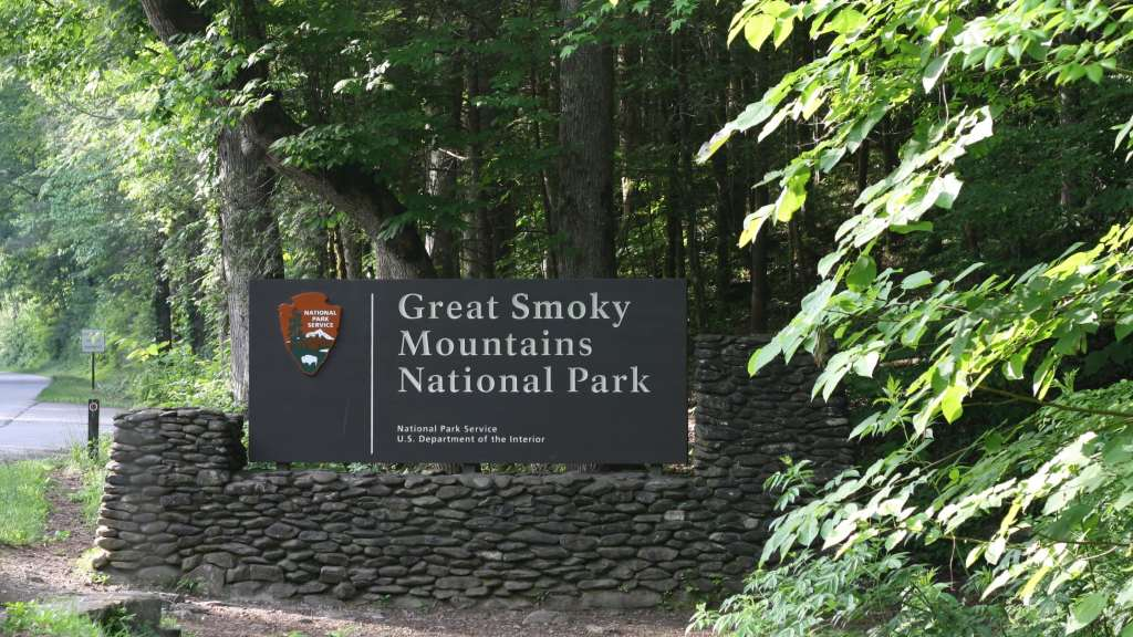 Avoiding Crowds in Gatlinburg and GSMNP - Great Smoky Mountains National Park Sign
