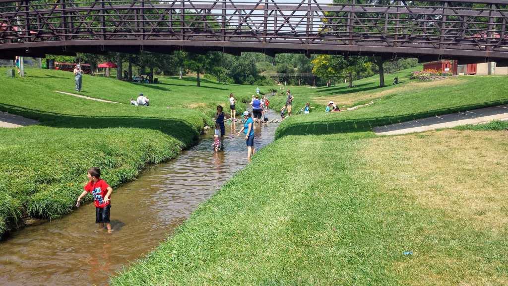 Affordable Hidden Gems in Denver for Kids - Belleview Park creek in Englewod, CO