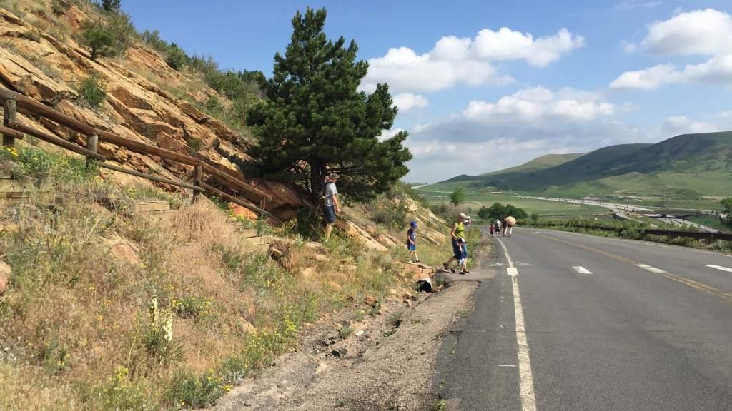 Affordable Hidden Gems in Denver for Kids - Dinosaur Ridge road