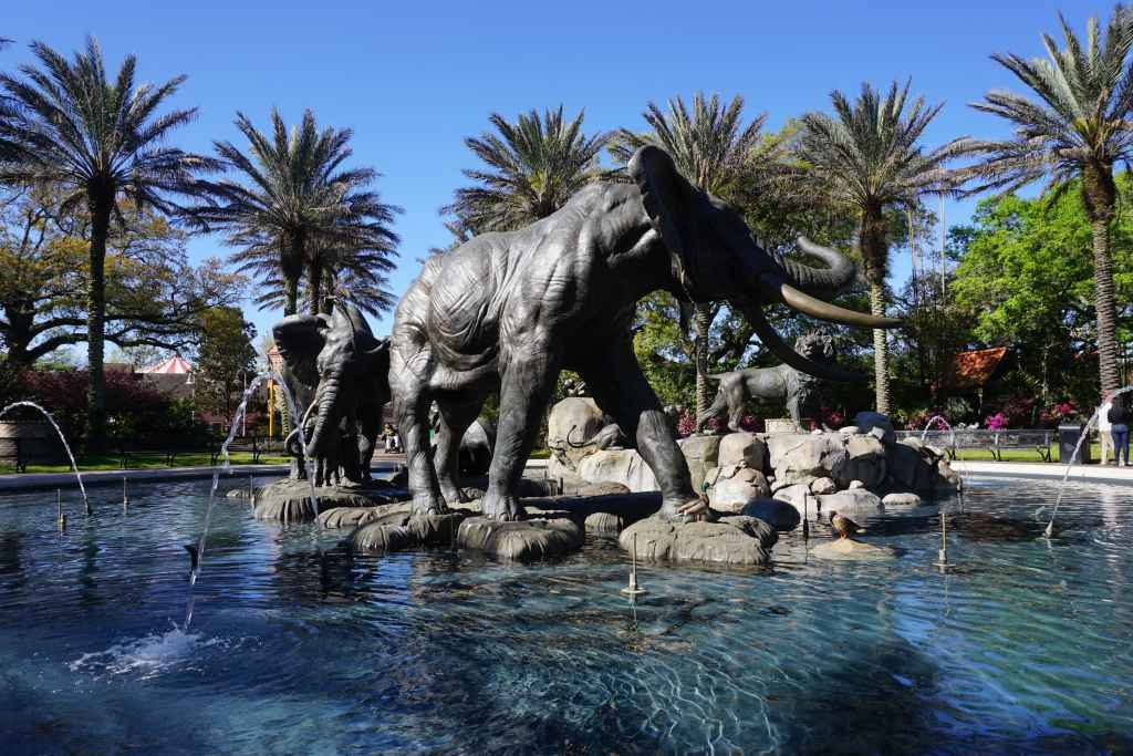 New Orleans Attraction for Kids - Audubon Zoo fountain