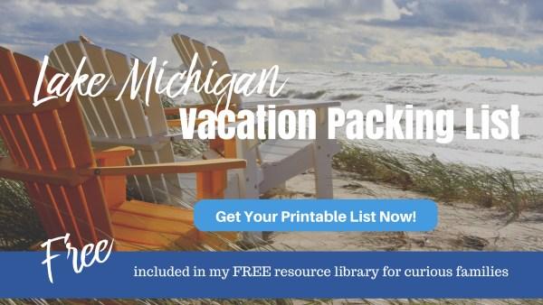 Lake Michigan Packing List Freebie