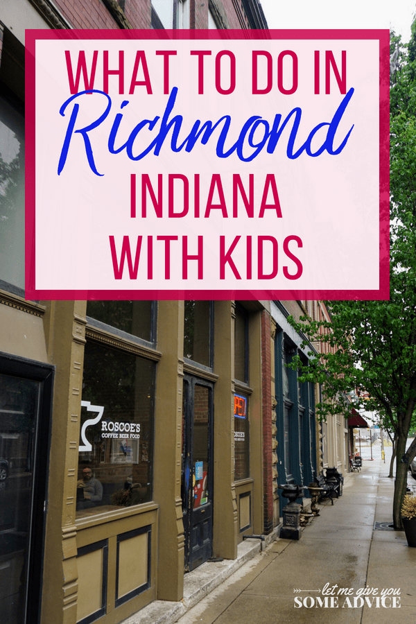Plan a fun and educational weekend in Richmond Indiana with kids. We've got a great list of Richmond, IN attractions for the whole family perfect for homeschool field trips, summer day trips, or weekend getaways in Indiana. Find out what to do with kids and where to eat in Richmond, Indiana. #indiana #midwestravel #summerdaytrip