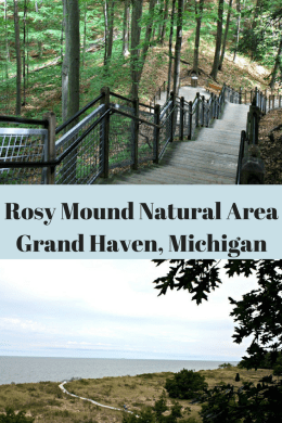 Fun Places to Visit in Michigan with kids - Rosy Mound from A Little Time and A Keyboard