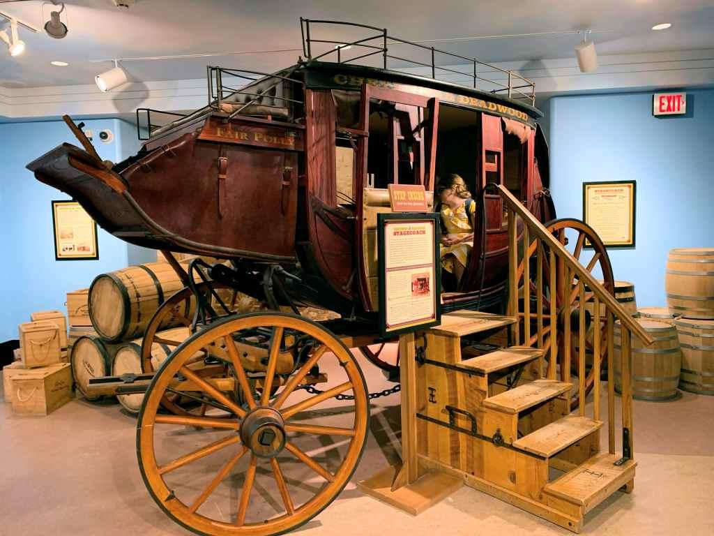 Eiteljorg Museum with Kids - children's area stagecoach