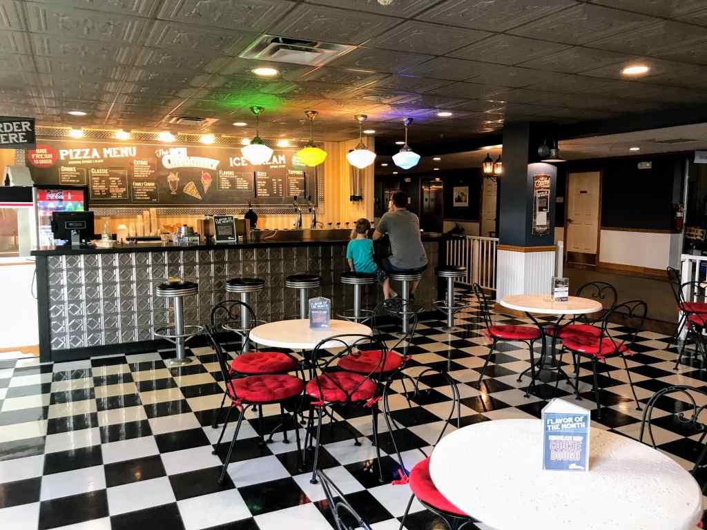 Shipshewana with Kids - ice cream parlor Blue Gate inn