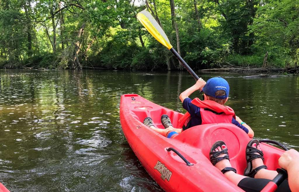 Shipshewana with Kids - Trading Post kayak