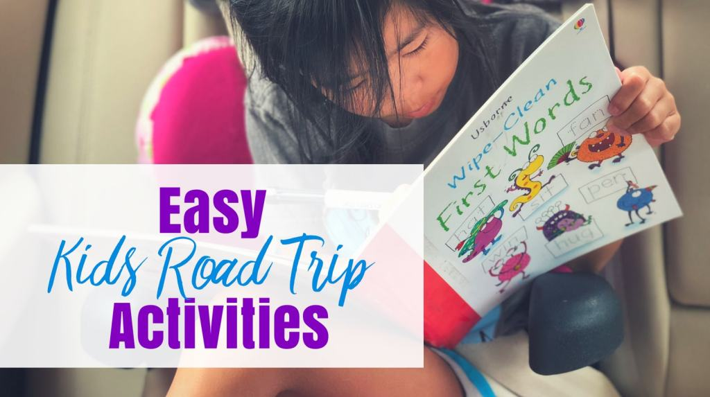 Kids Road Trip Activities - feature image child with book