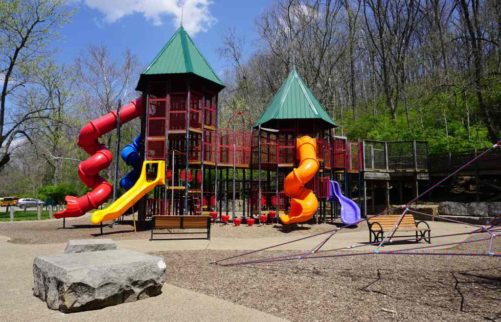 Bloomington Indiana with Kids - Lower Cascades Park playground