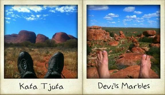 voyage australie pieds