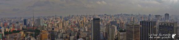 Panorama sao paulo depuis l'altino arantes building