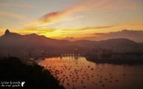 coucher soleil rio de janeiro corcovado