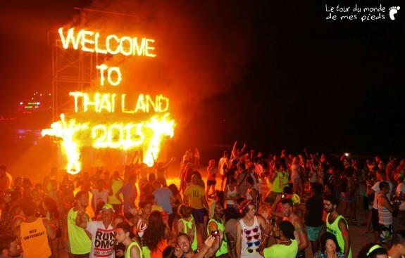 fullmoonparty full moon party haad rhin thaïlande