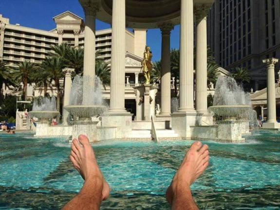 caesars palace piscine