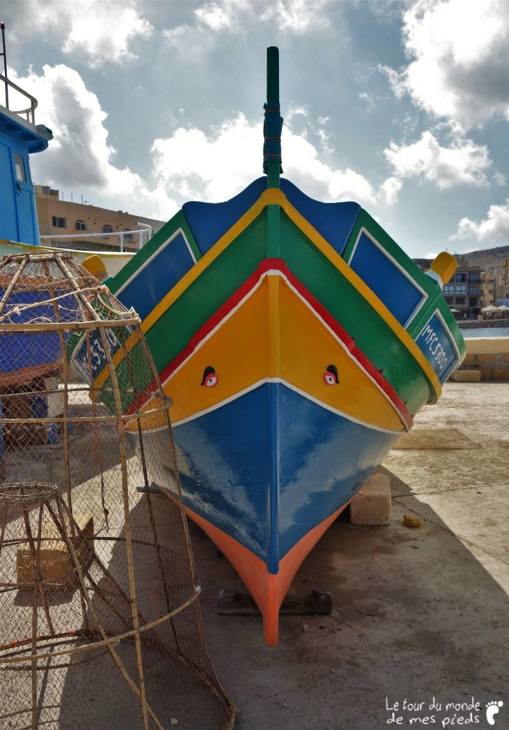 Bateau de pêche maltais typique