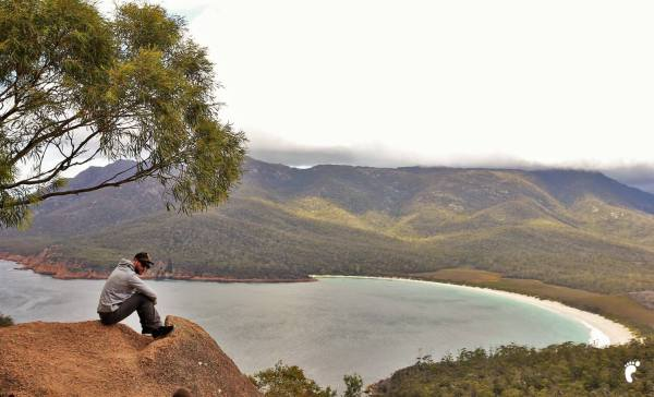Freycinet wineglass bay panorama