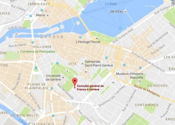 adresse consulat france Genève