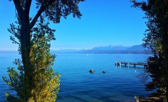 panorama Lac Léman depuis Excenevex