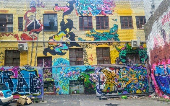 Street art Victoria Market Melbourne