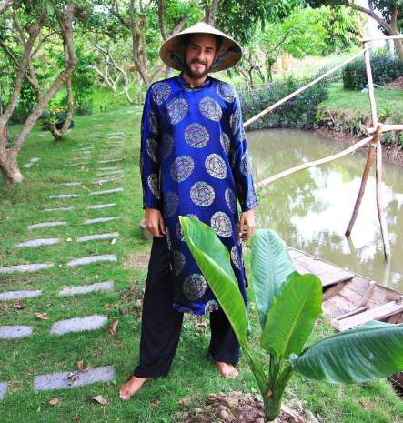 tenue traditionnelle paysans vietnam