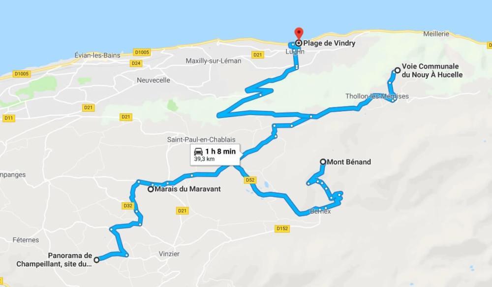 itinéraire Thollon Mont Bénand Geopark