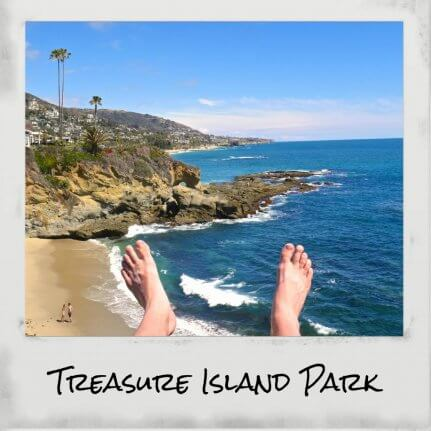 treasure island californie polaroid
