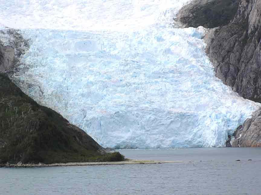 calving glacier in Beagle Channel