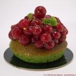 [Sans Gluten] Tartelette Pistache Rouge par Helmut Newcake