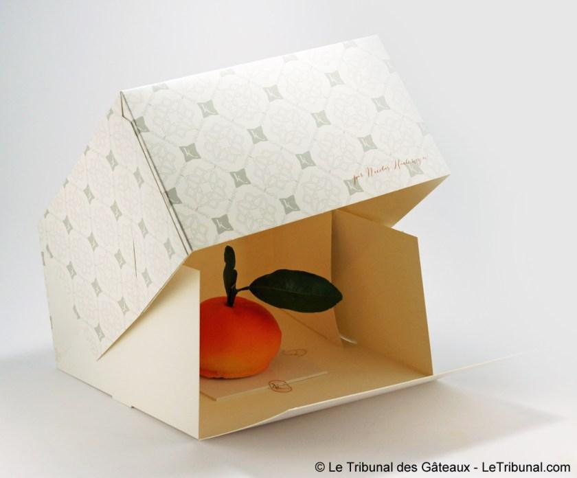 emballage bûche de Noël karamel