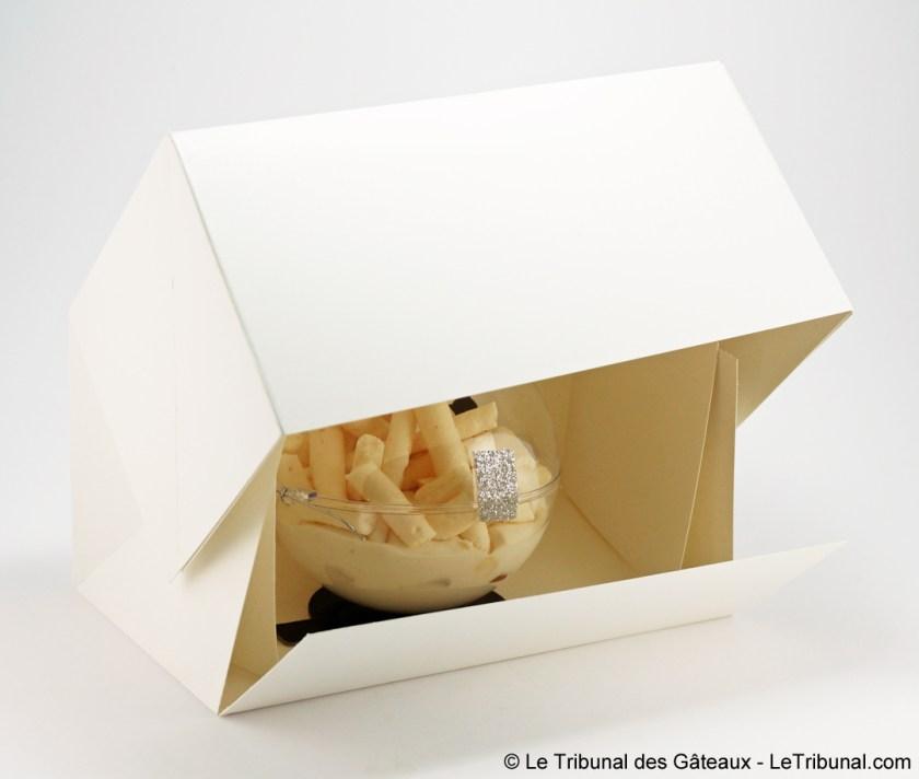 emballage boule mont-blanc pâtisserie plume