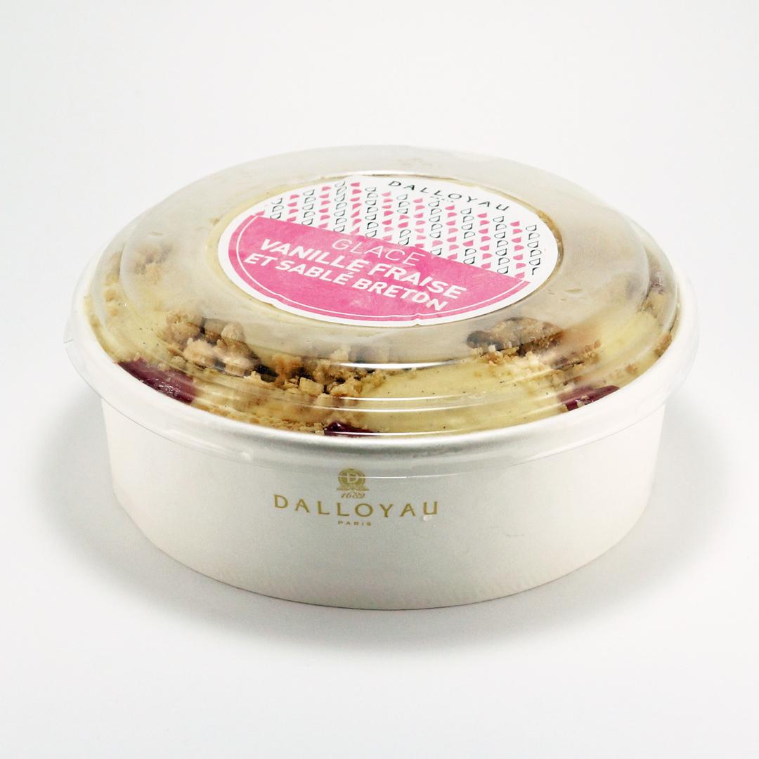glace vanille fraise sablé breton dalloyau